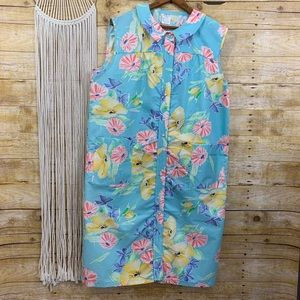 Vintage Sleeveless Hawaiian House Dress